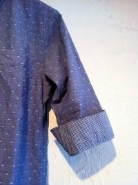 MIL-SPEC   6分袖BDドットシャツ