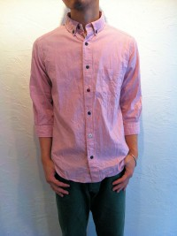 modemdesign   BDマルチボタン七分袖シャツ