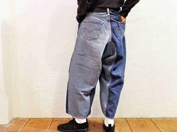 SUNY SIDE UPのREMAKE DENIM BAGGY PANTS