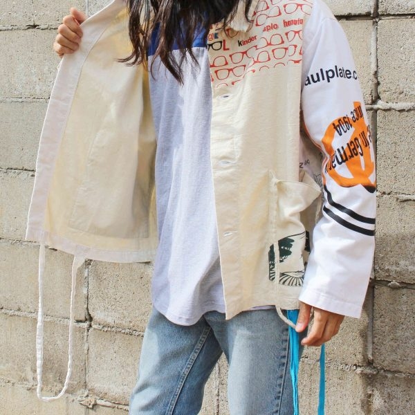 SUNNY SIDE UPのWHITE BAG COVERALL